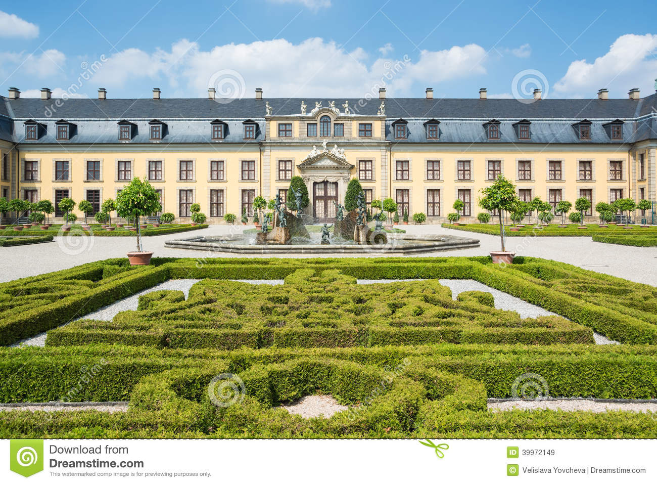 the old palace of herrenhausen gardens stock image image 39972149. Black Bedroom Furniture Sets. Home Design Ideas