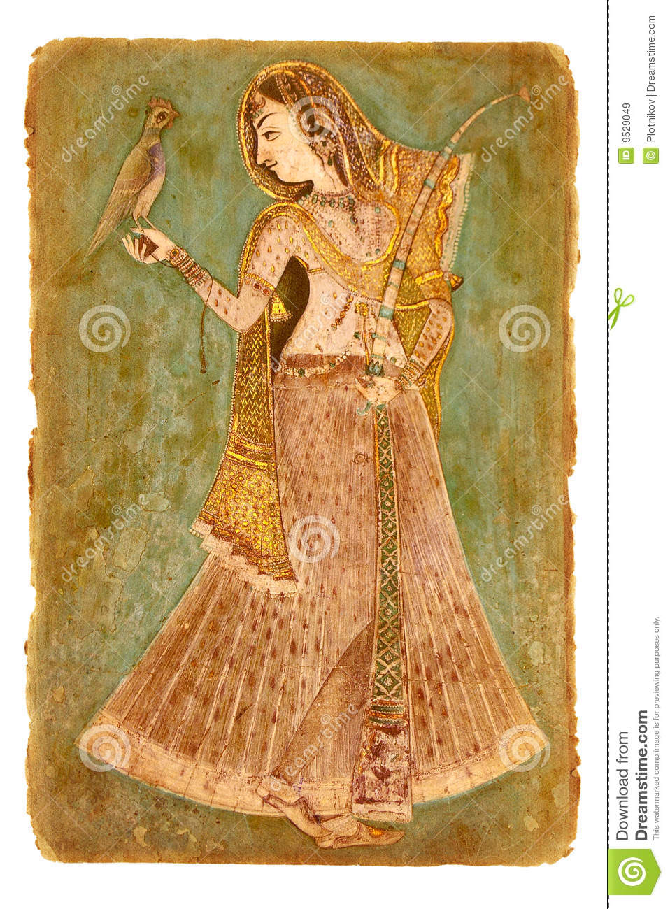 Old Paper With Ancient Indian Picture Royalty Free Stock ...