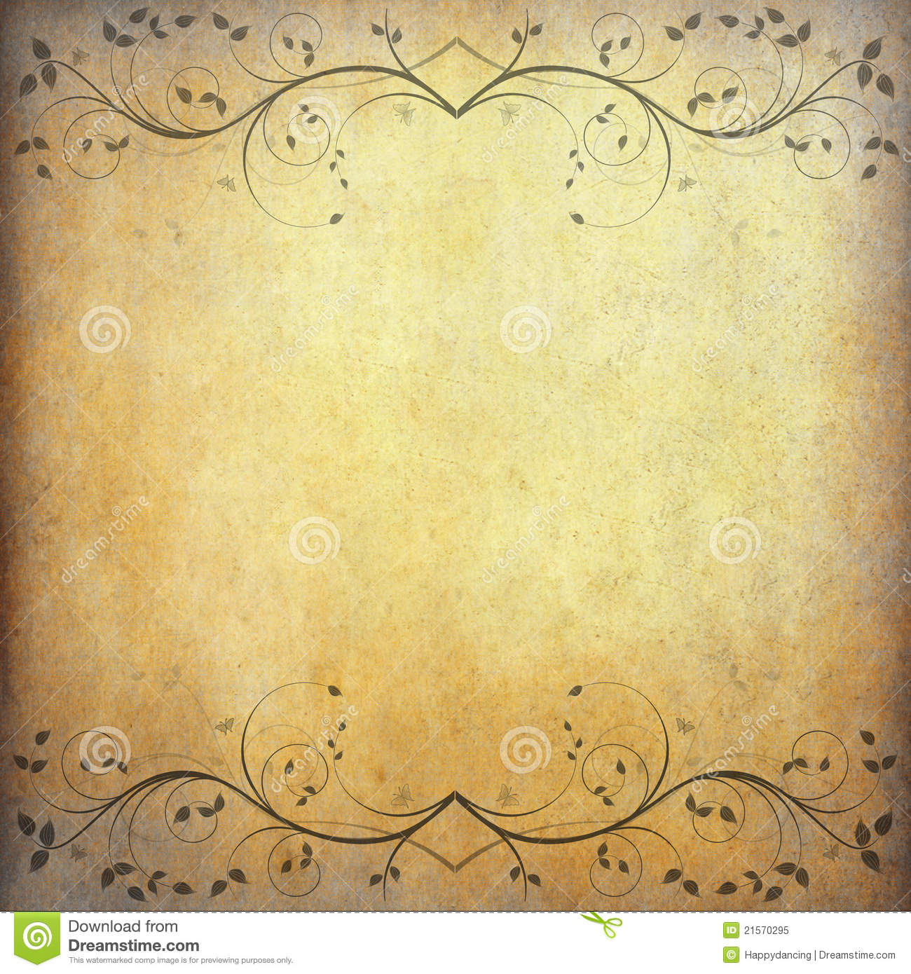 old paper background with vintage flower stock image image of