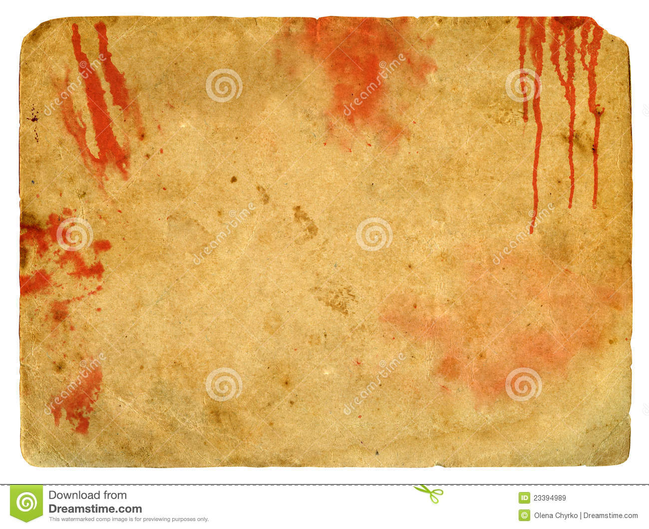 old paper with blood spots  stock illustration