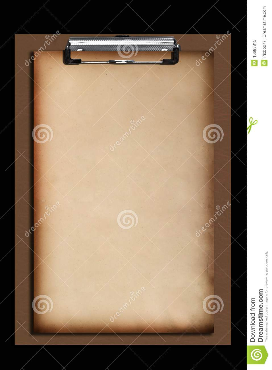 old paper on brown clipboard stock image image of meeting tool