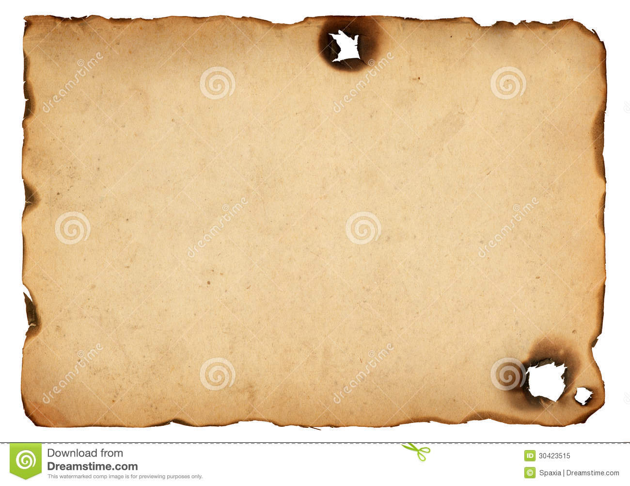 Old Paper With Burnt Edges Royalty Free Stock Photo