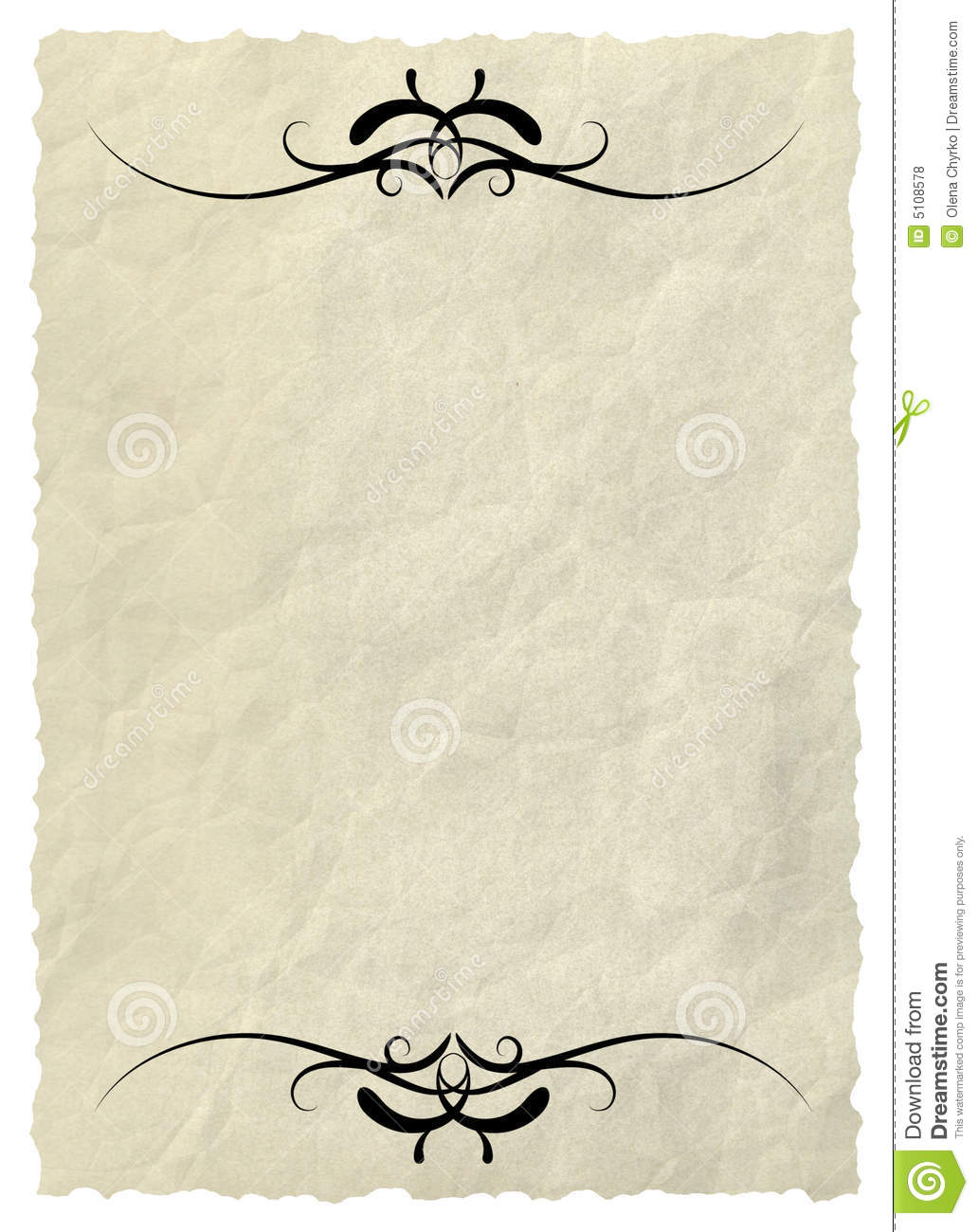 Old paper with decorative elements royalty free stock for Decorative paper