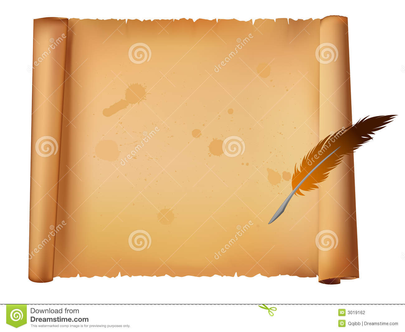 Old Paper And Feather Pen Stock Photography - Image: 3019162