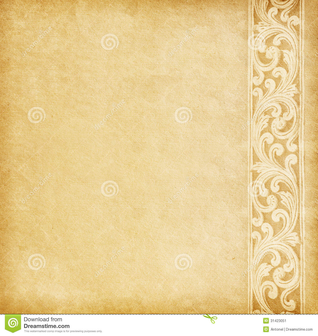 Old Paper With Floral Border. Stock Image - Image: 31423051