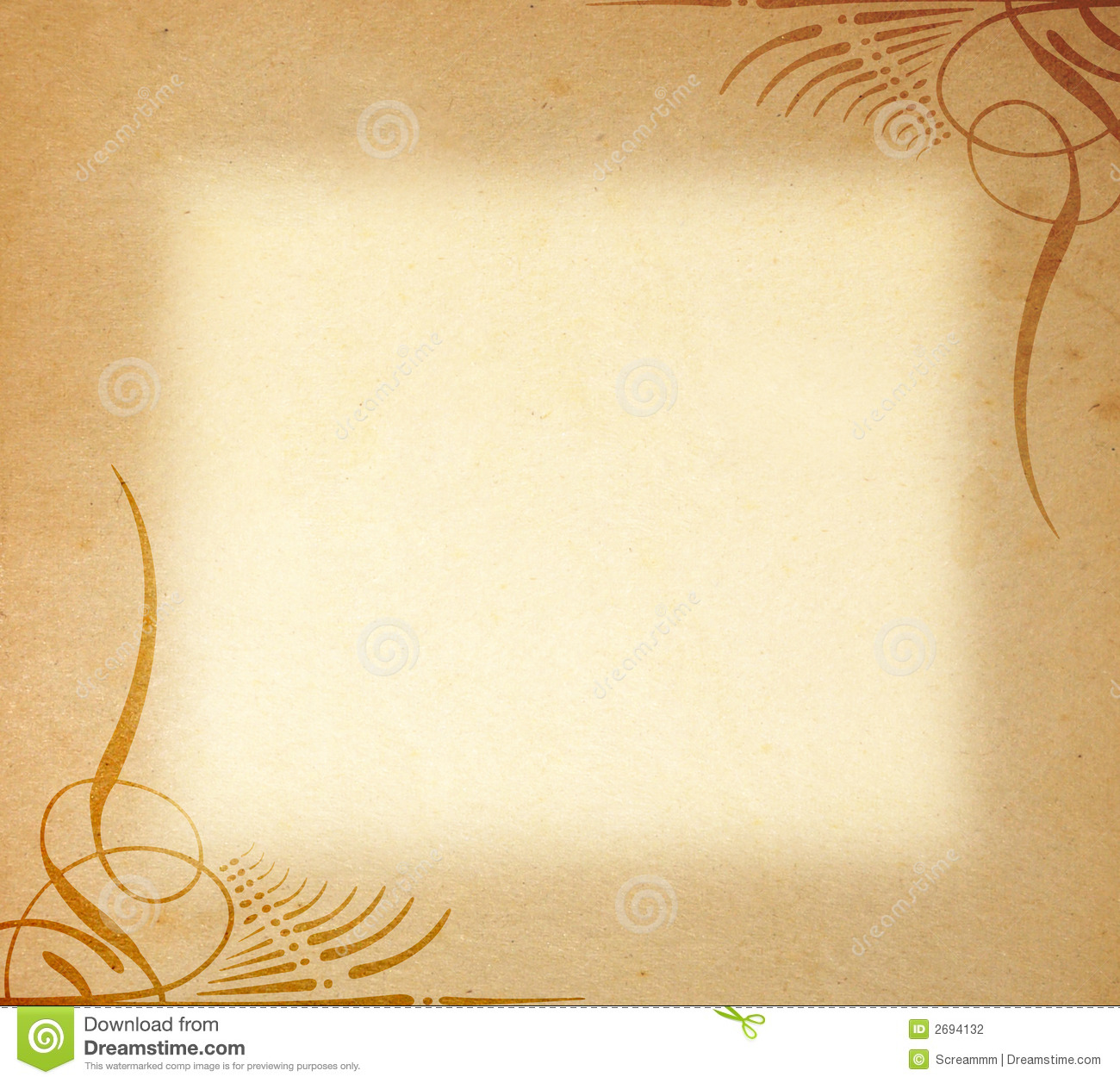 Old Paper On Frame Ornament Stock Photography Image 2694132