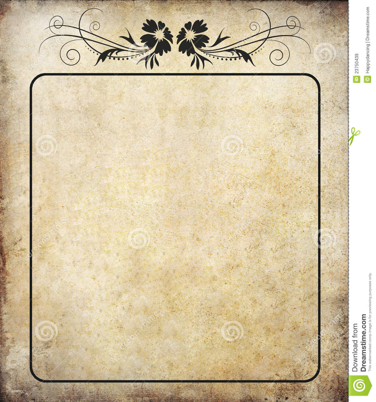 Old Paper With Label Vintage Royalty Free Stock Images