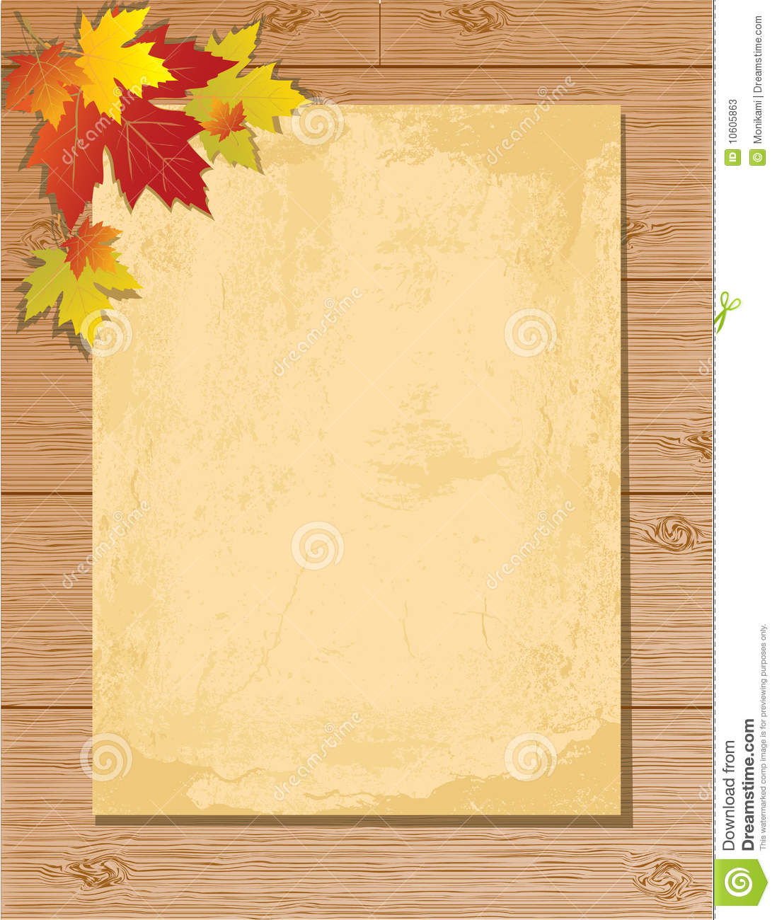 Old Paper Letter On Wooden Background Stock Photos - Image: 10605863