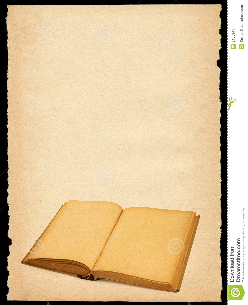 Old paper with open book stock image image 2155341 for Vintage book paper