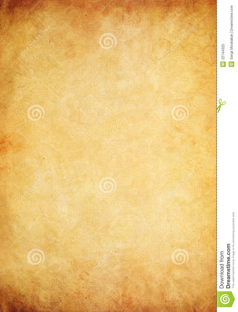 Old paper parchment as grunge background