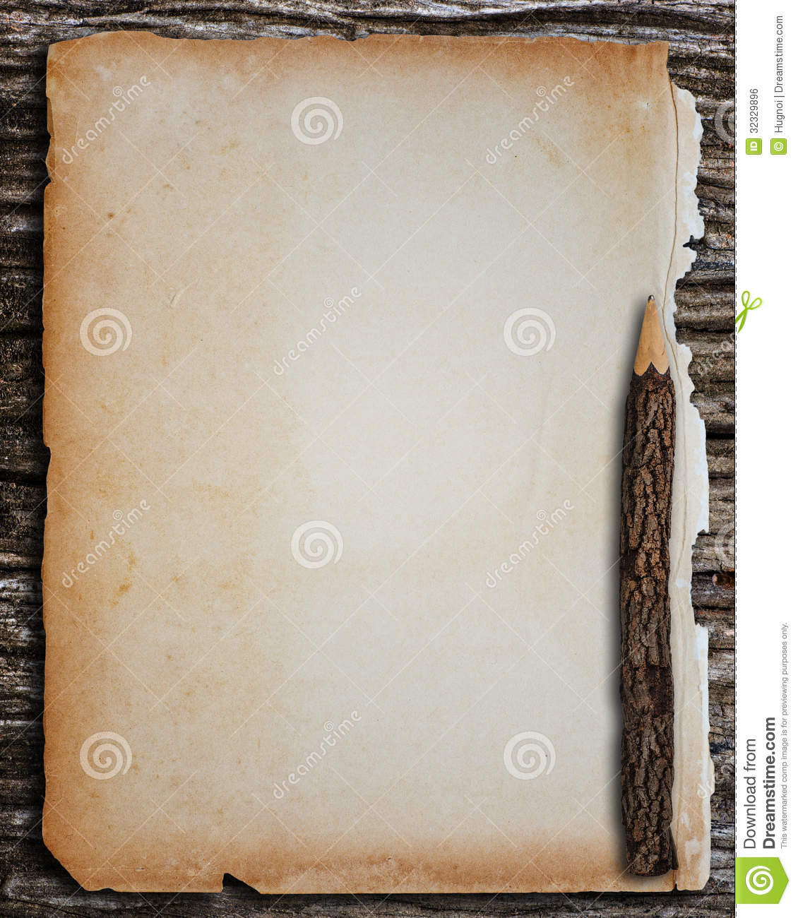 Old Paper Pencil Royalty Free Stock Image - Image: 32329896