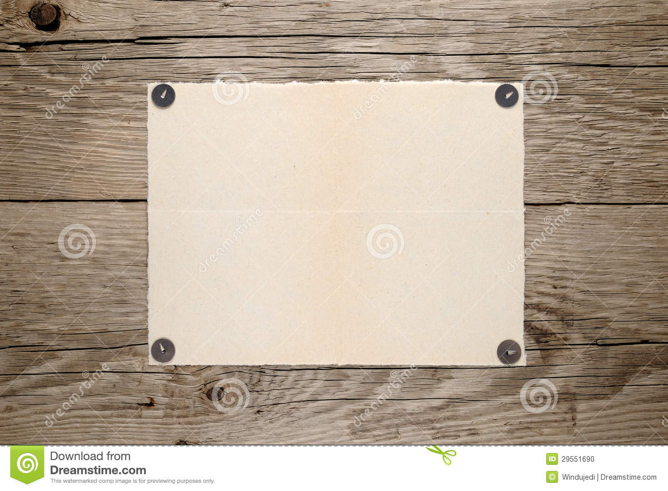 Old paper pinned to wall stock photo image 29551690 for Wall to wall paper