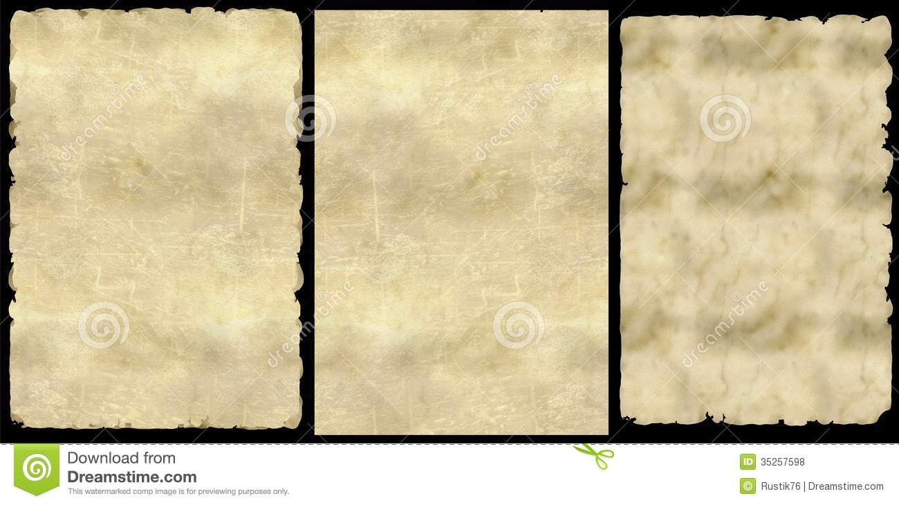 old paper   png  stock photo  illustration of medieval