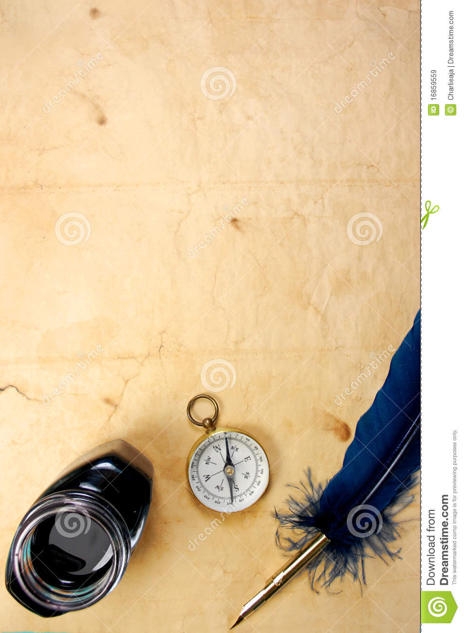 Old Paper With Quill And Ink Royalty Free Stock Images ...