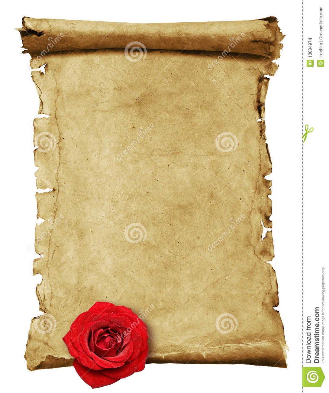 Antique Scroll Paper: Old Paper -scroll Stock Photo. Image Of Antique, Book