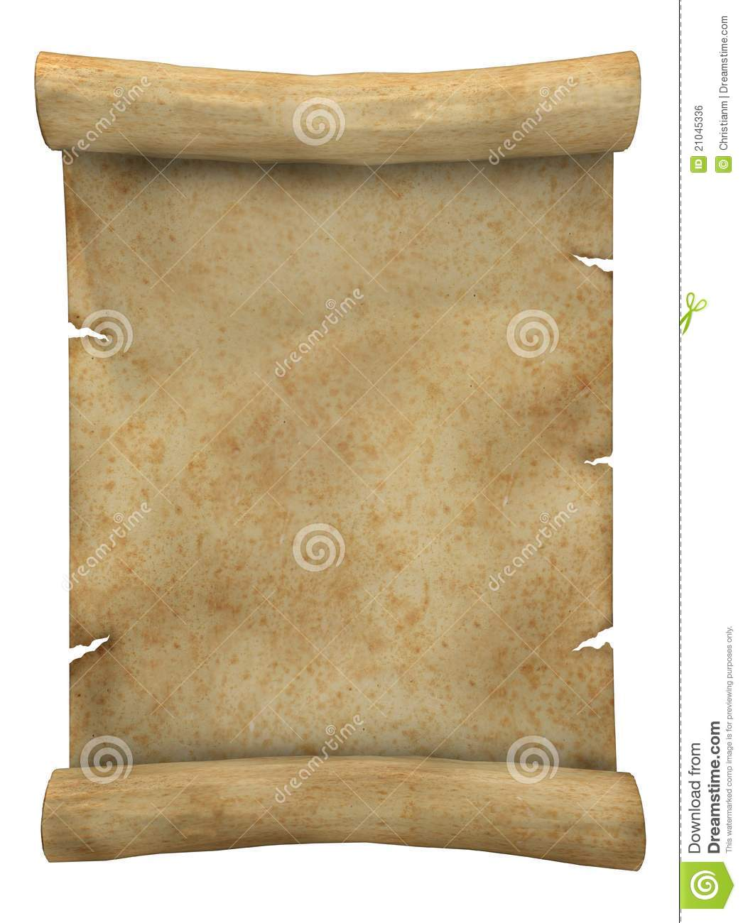 Ripped Old Paper: Old Paper Scroll Royalty Free Stock Image