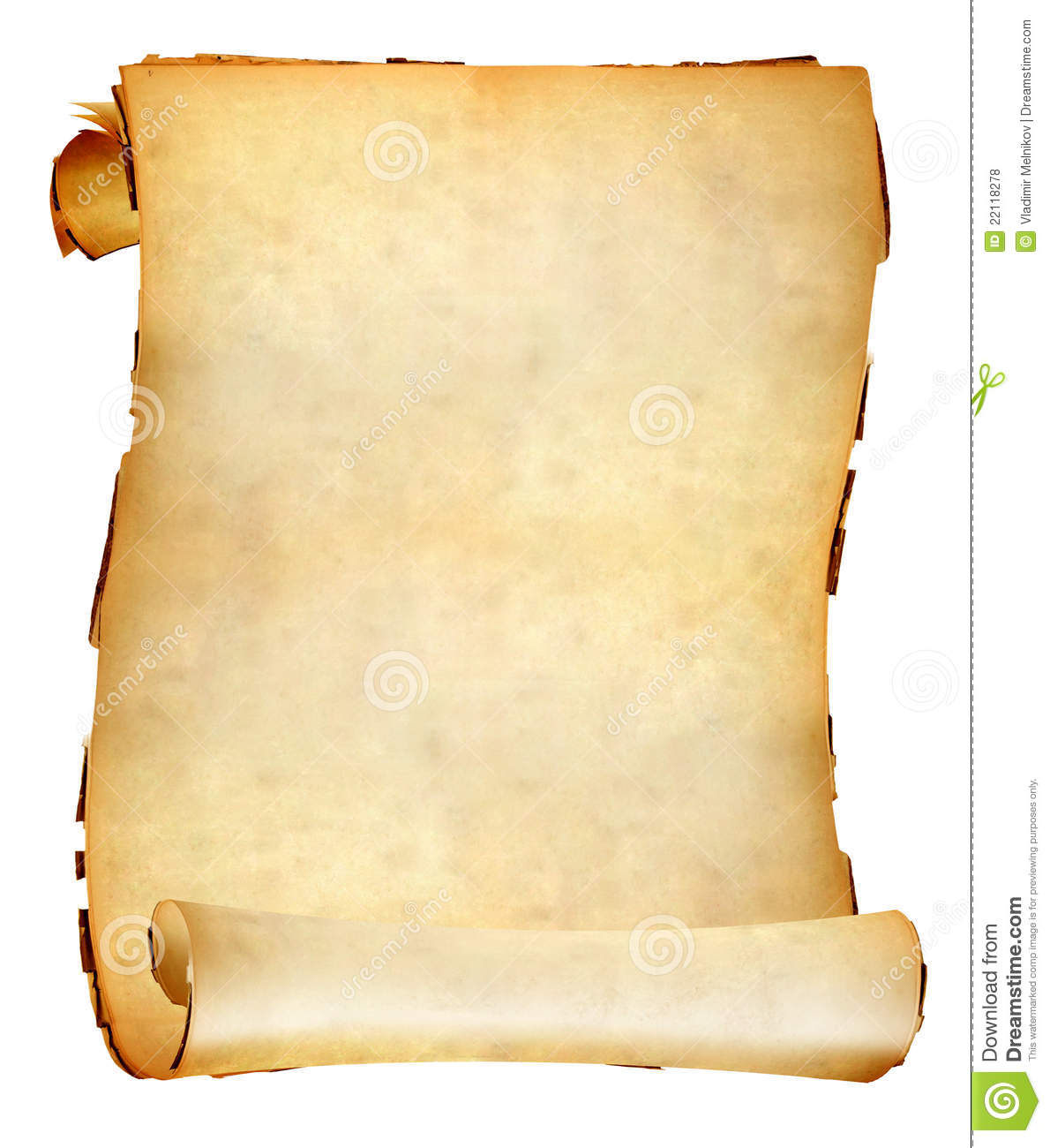 Old Paper Scroll Royalty Free Stock Photos - Image: 22118278