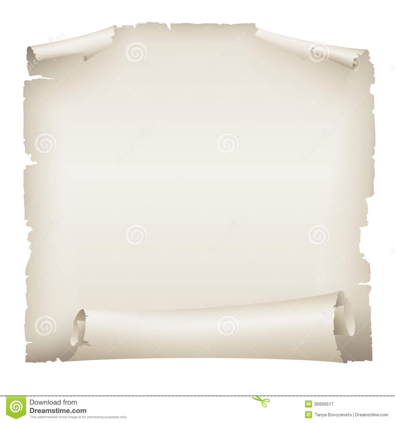 Scroll Old Paper Banner Royalty Free Stock Photo - Image: 8643615
