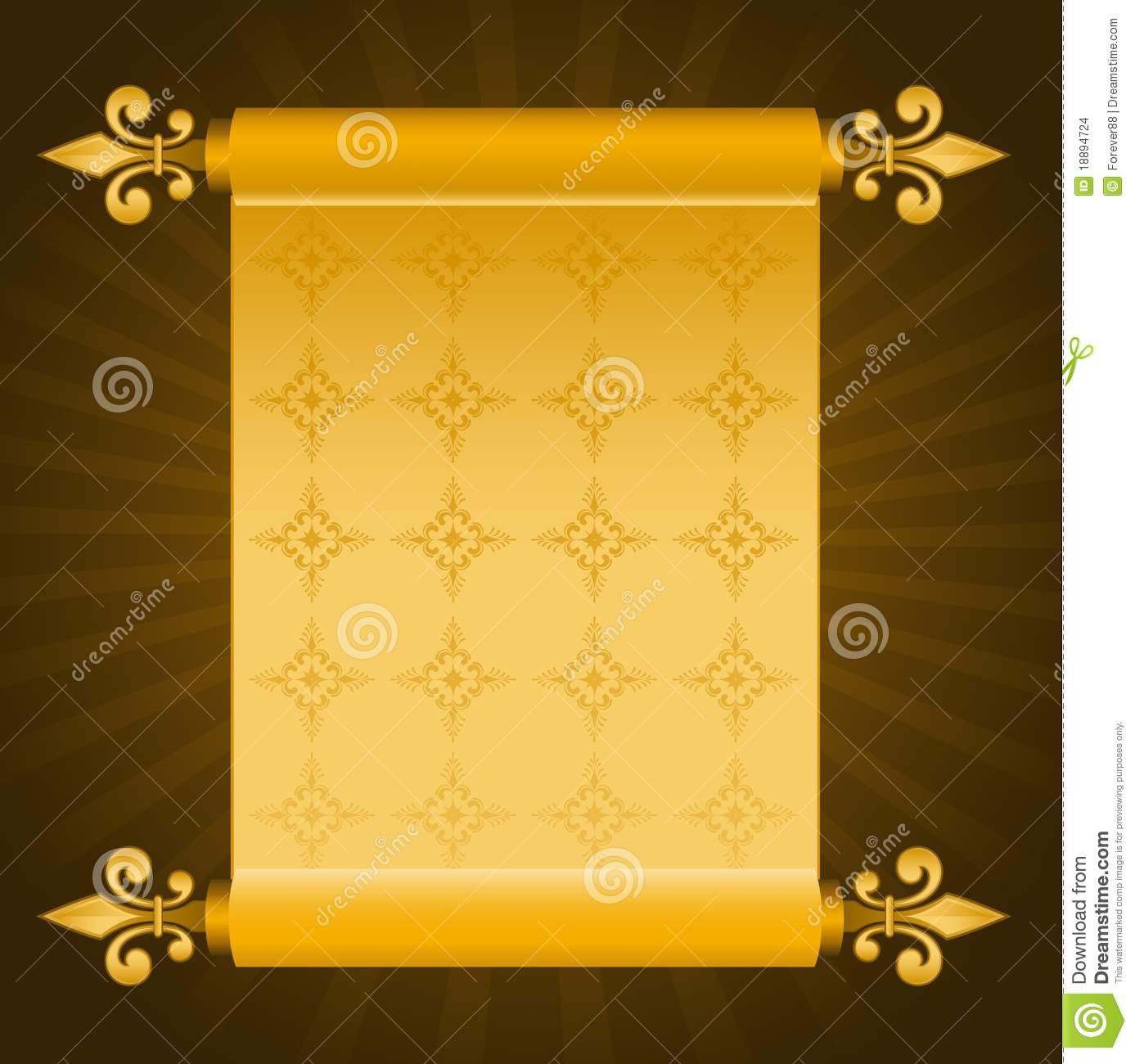 old paper in scrolls stock vector illustration of antique