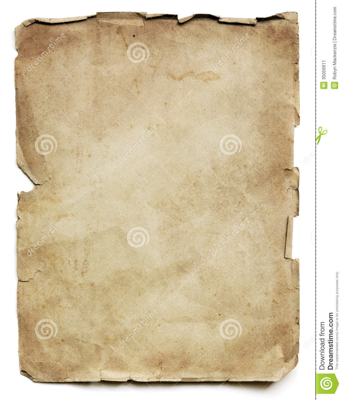 Old Paper Sheet Stock Image Image 35056911