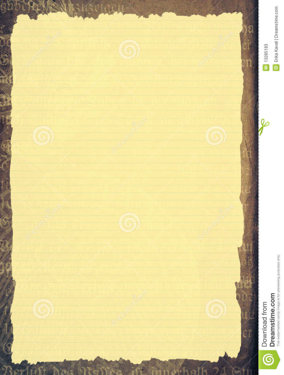 Old Paper Template Stock Photos - Image: 13285183