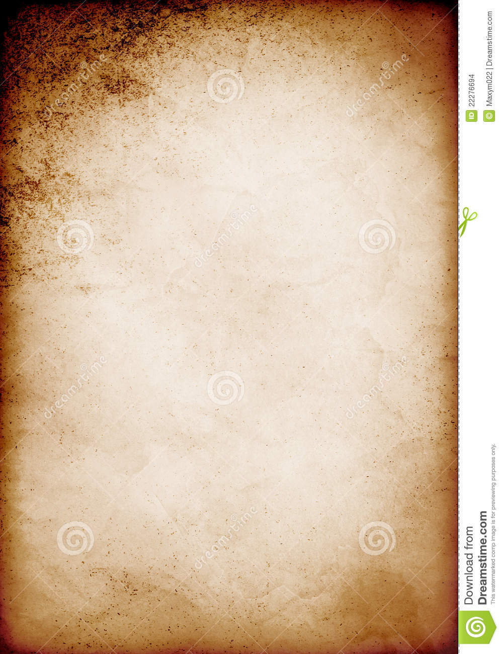Old Paper Template Stock Images - Image: 22276694