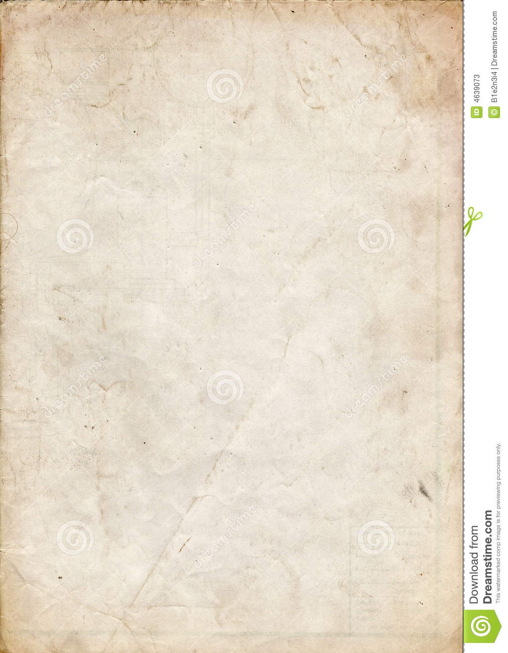 Old Paper Texture Stock Photos - Image: 4639073