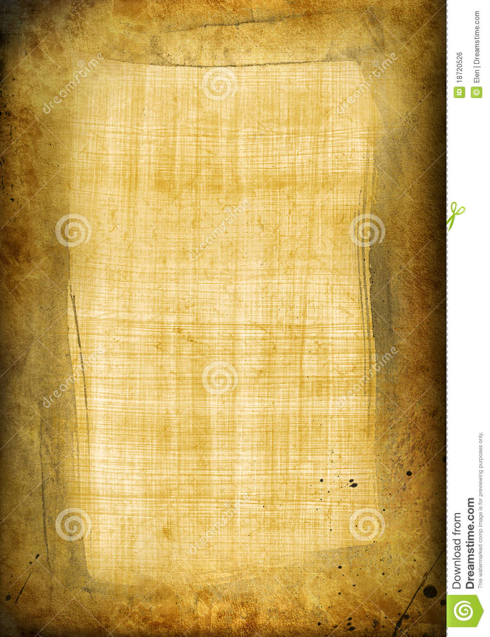 Old papyrus with frame stock illustration. Illustration of structure ...