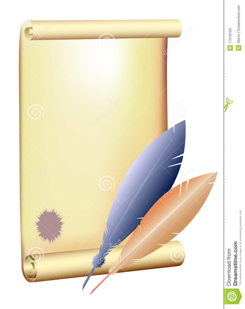 quill and parchment clipart - photo #19