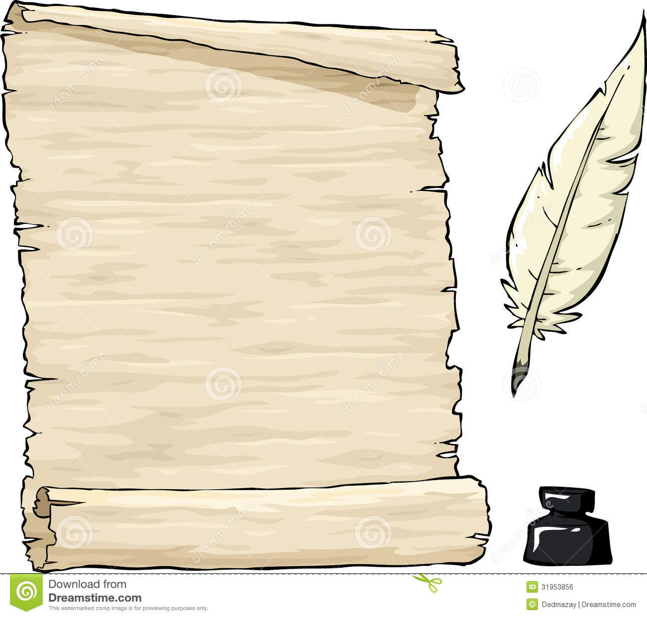quill and parchment clipart - photo #23