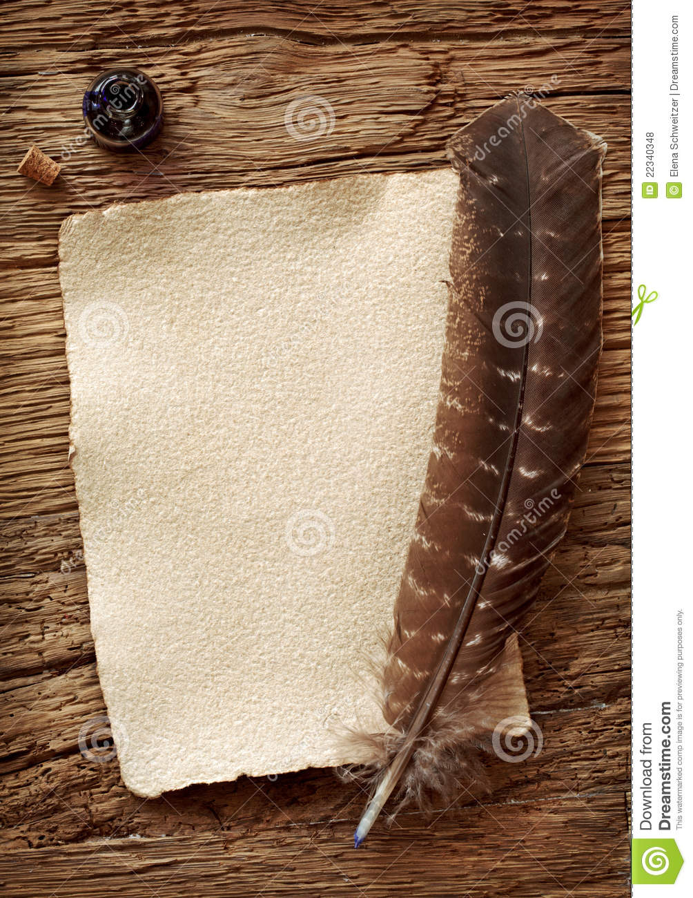 Old Parchment And Quill Pen Royalty Free Stock Photos ...