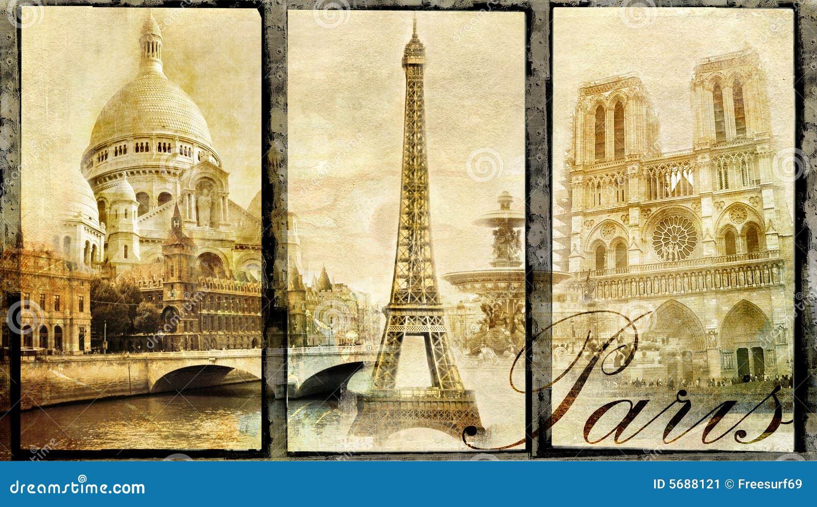 Old Paris Stock Illustration Image Of Dame Grunge