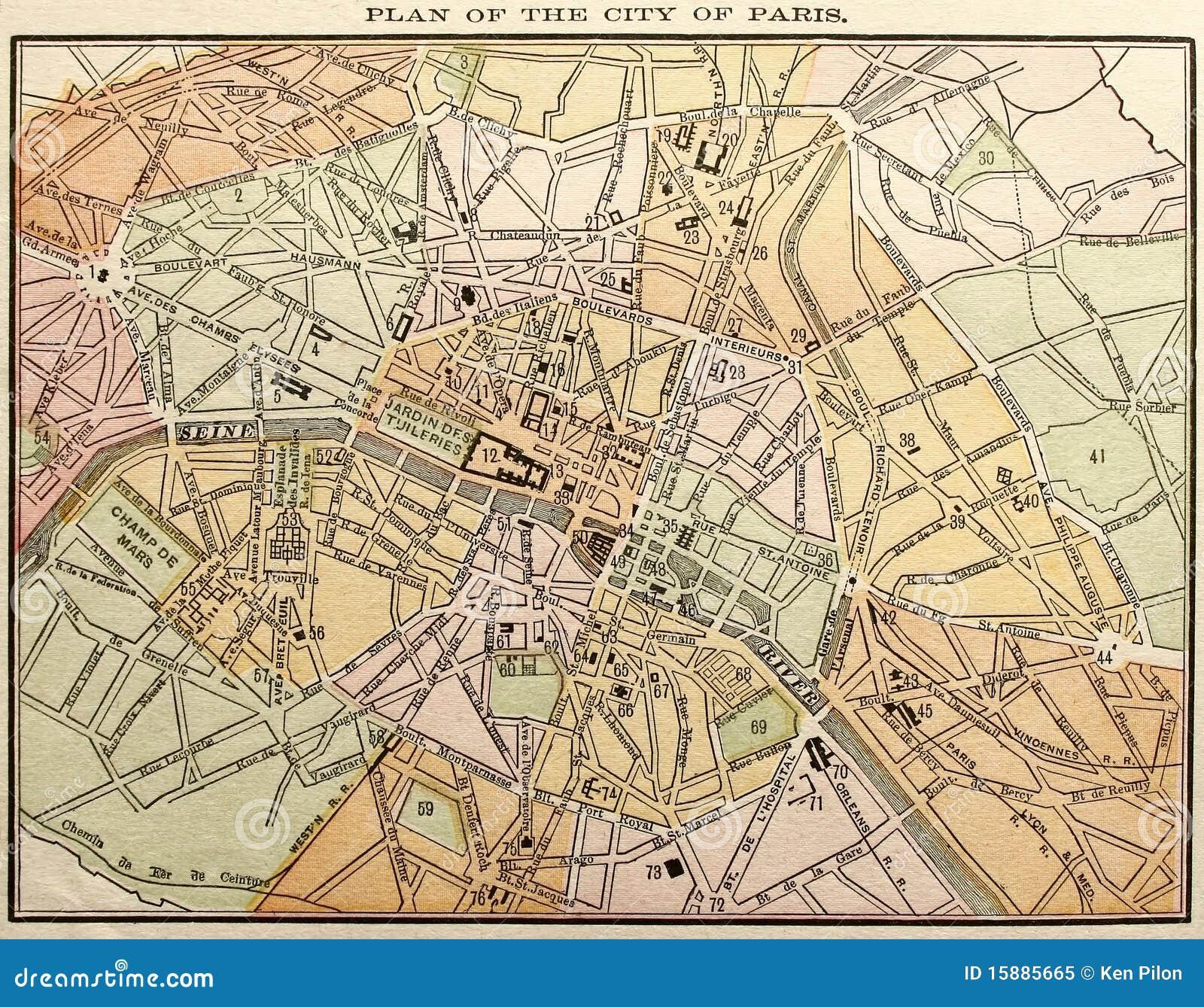 Old paris street map royalty free stock photo image 15885665 - Royalty Free Stock Photo Antique City Map Old Paris Street