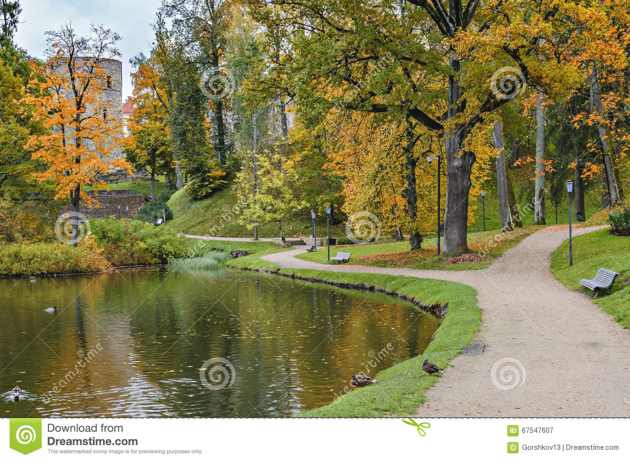 Old park in autumn