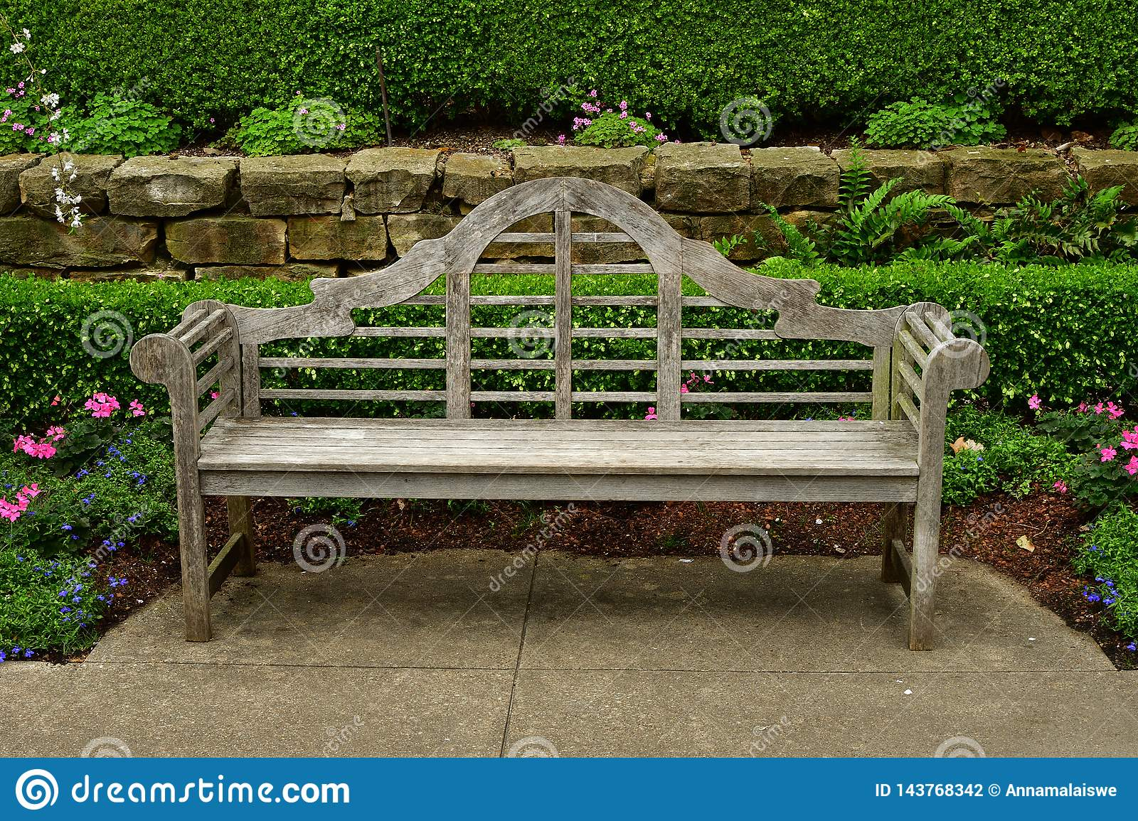 Old Park wooden bench