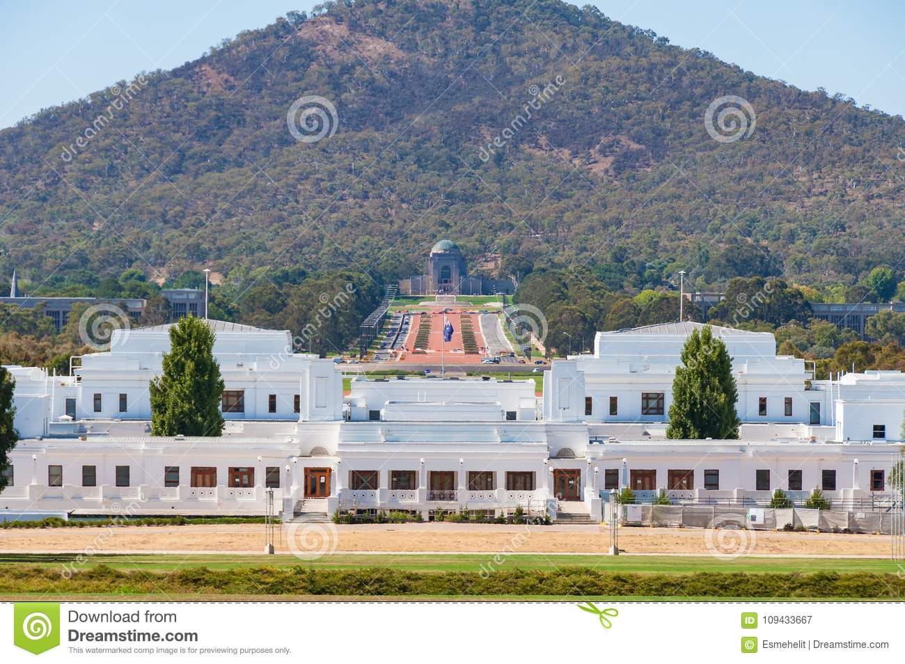Old Parliament House With Australian War Memorial View, Canberra