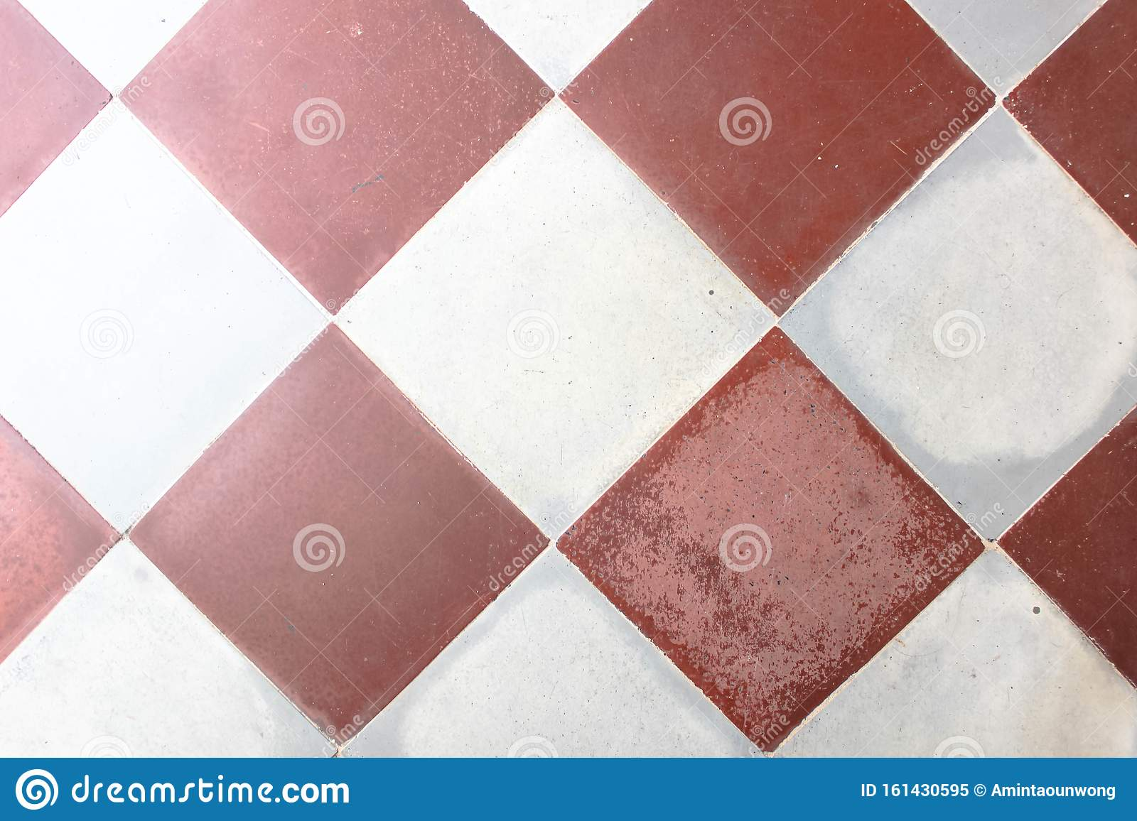 Old Pattern Square Tile Texture Floor Floor Tile Pattern In White And Red Beautiful Brick Walkway Path Stock Image Image Of Close Background 161430595