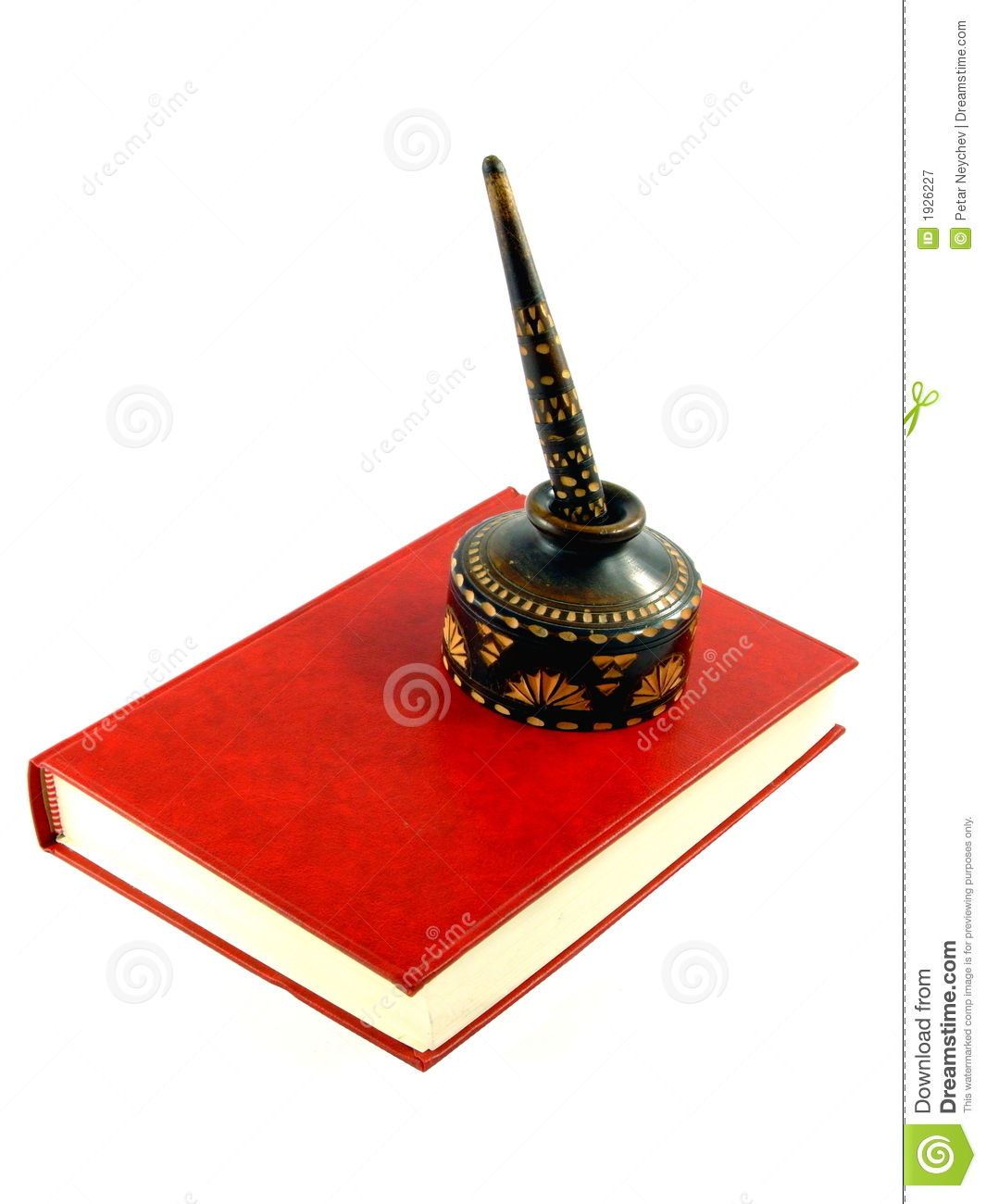 An Old Pen on a Red Book