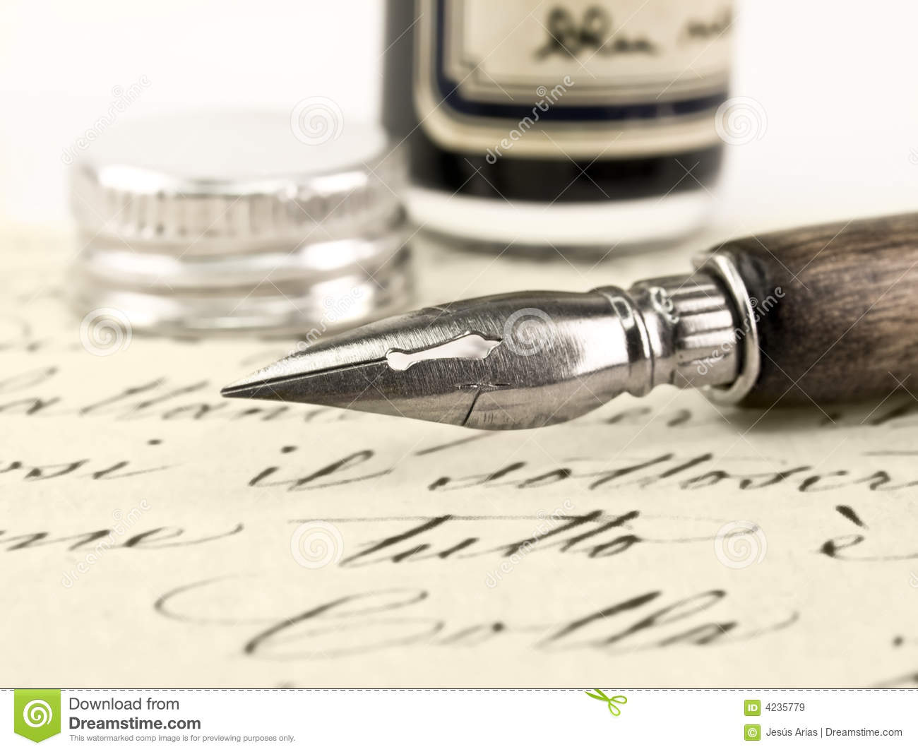 Royalty Free Stock Images  Old pen and retro calligraphy Old Calligraphy Pen