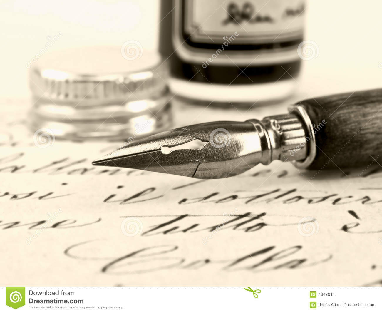 Old pen and retro calligraphy stock images image