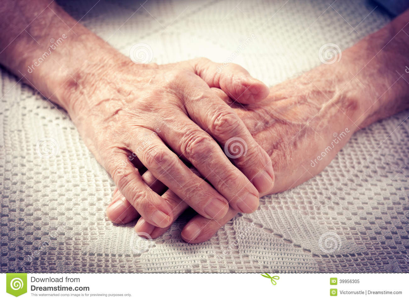 Old people holding hands. stock image. Image of husband ...