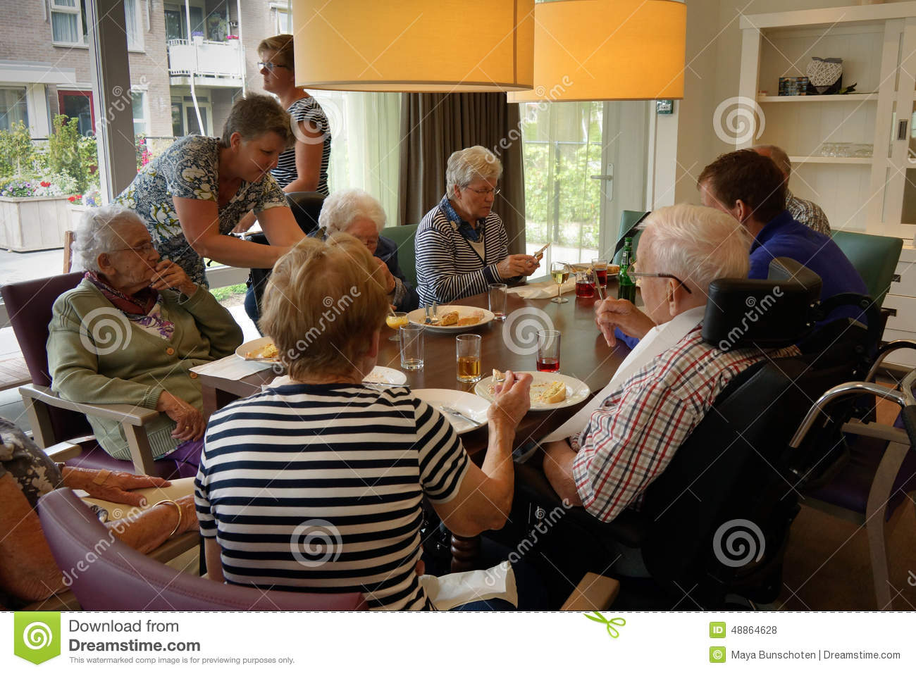 Old People In A Nursing Home Having Dinner Editorial Stock Photo ...