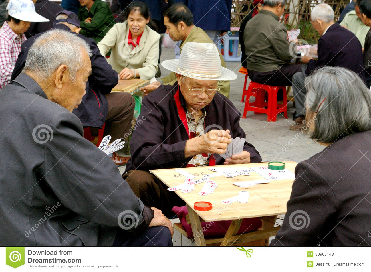 Old People Playing Games Editorial Stock Photo - Image