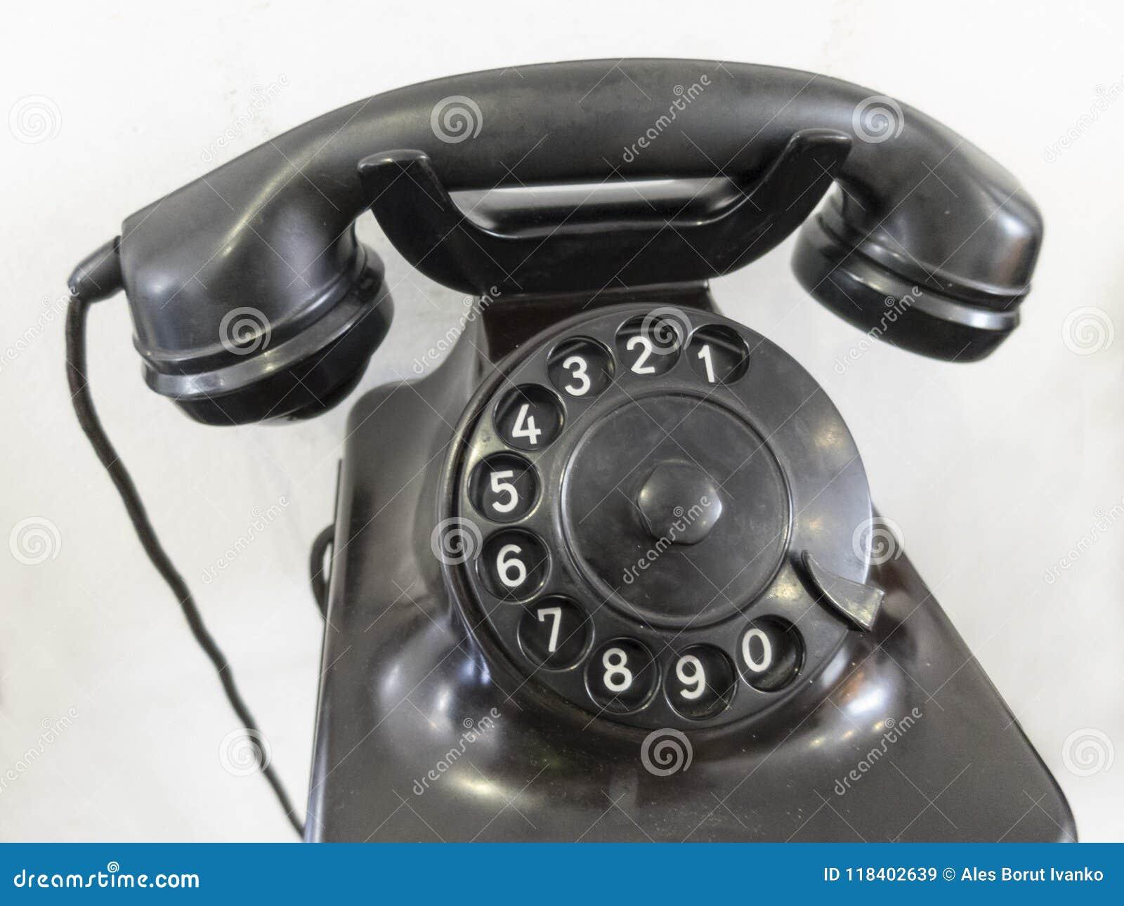 Old phone with analog rotating keyboard