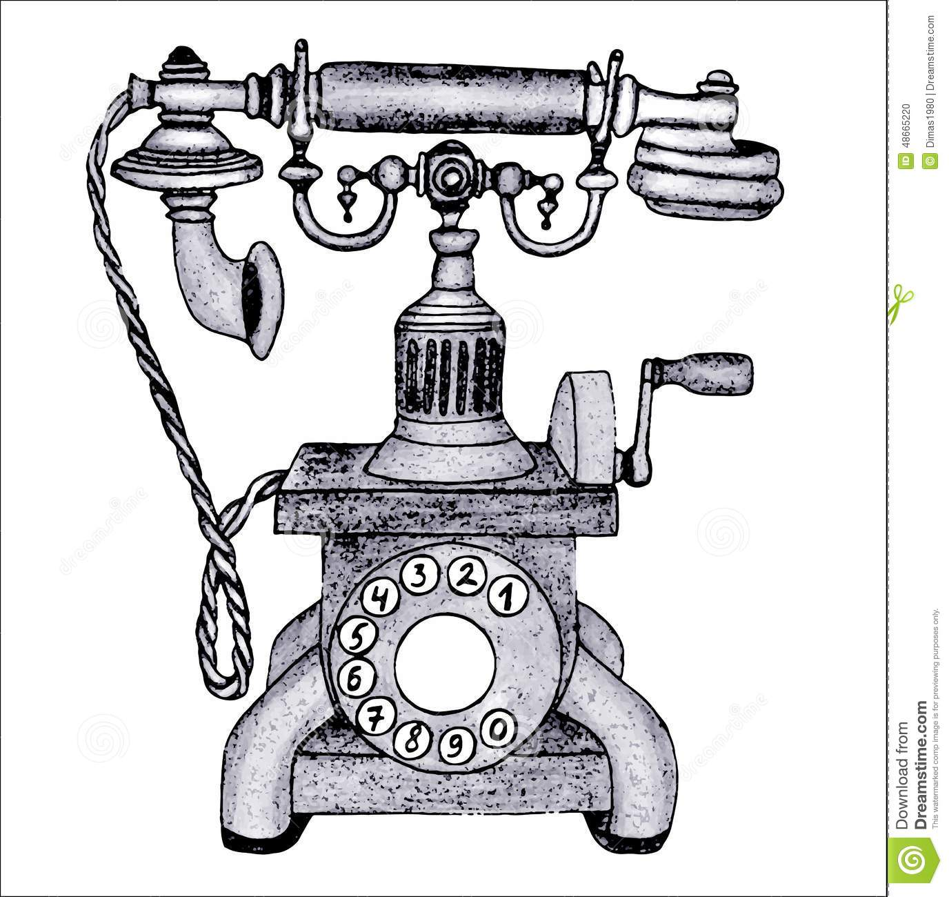 old phone stock vector