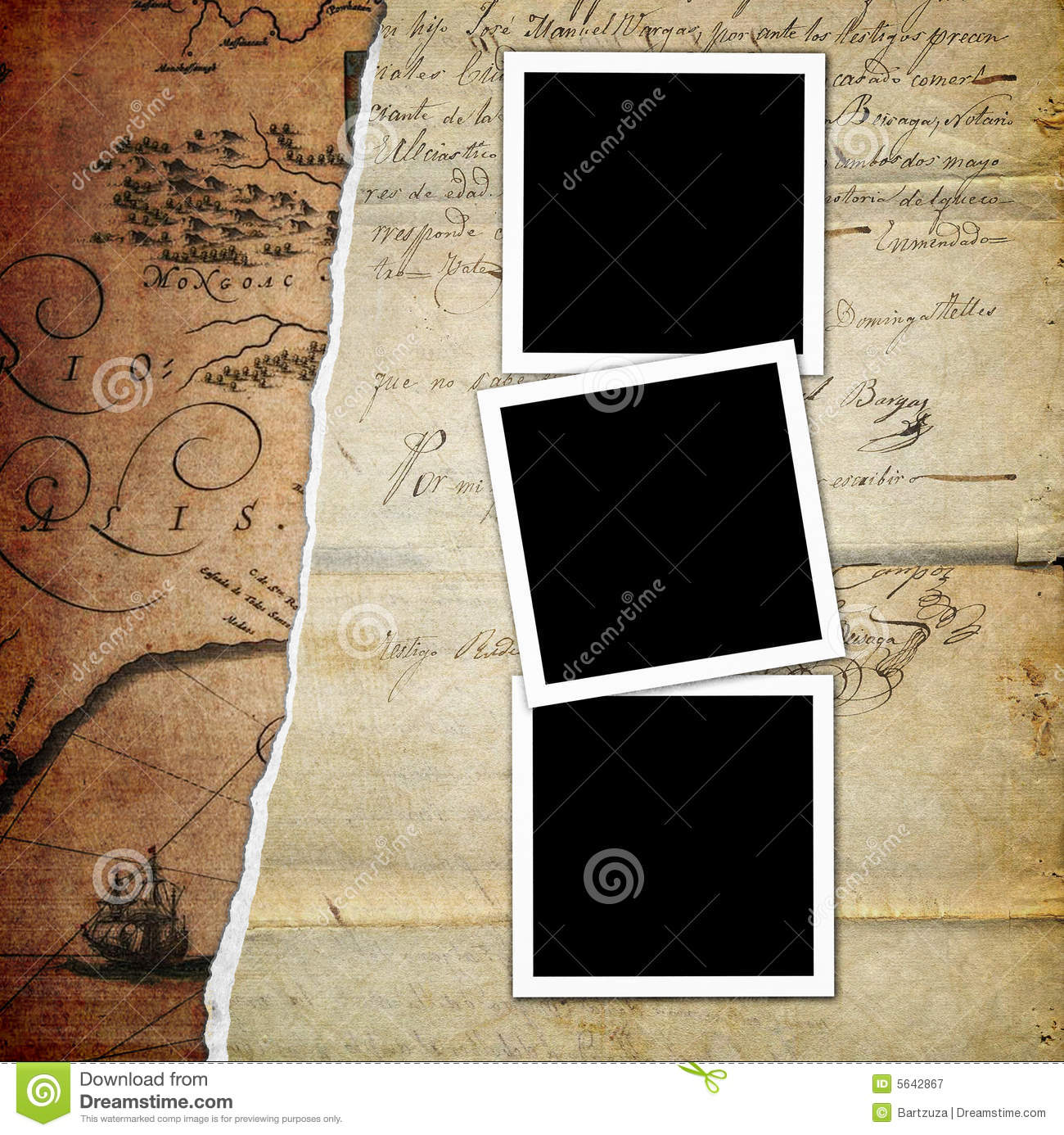 Old Photo Album Page Royalty Free Stock Photography