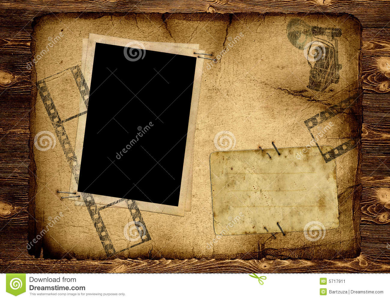 Photo Page: Old Photo Album Page Stock Image. Image Of Grimy, Formal