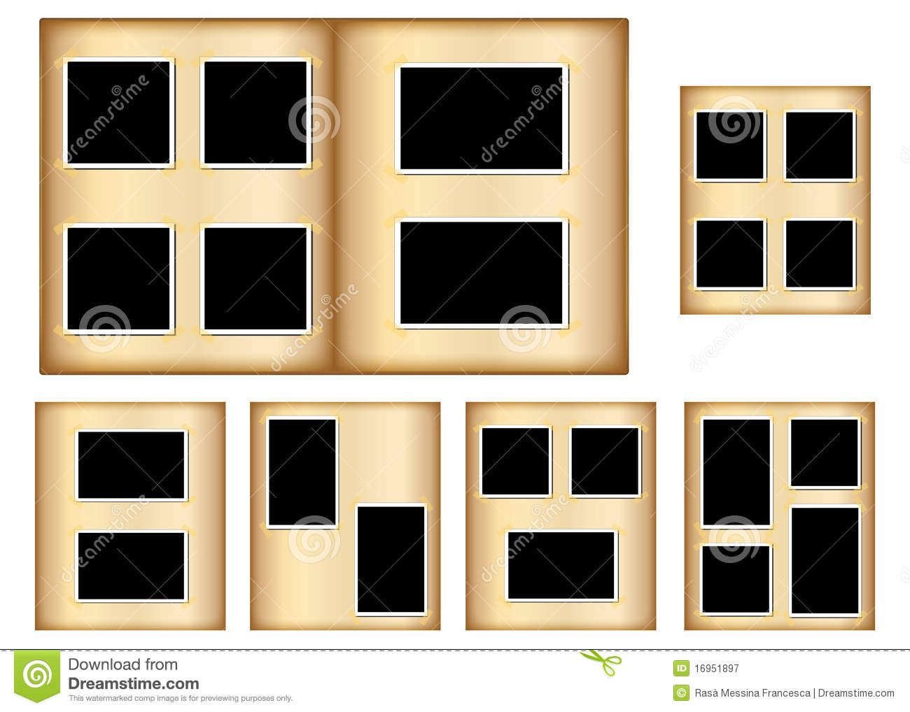 Old Photo Album Pages Royalty Free Stock Photography