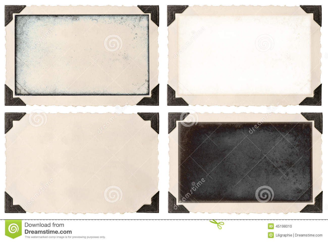 Old Photo Frame With Corner And Empty Field Stock Photo Image Of