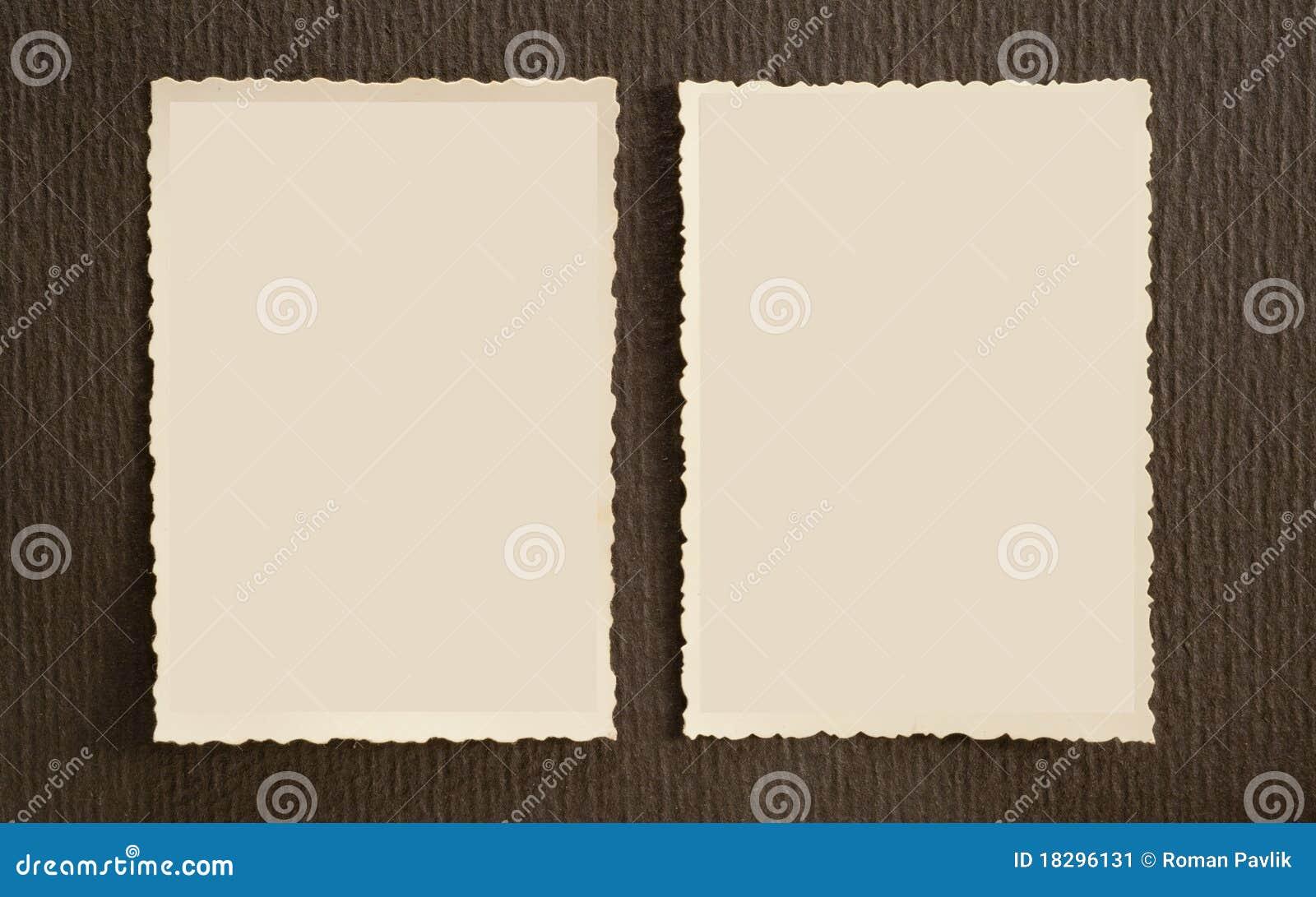 Old Photo Frames Stock Image Image Of Black Paper Edge